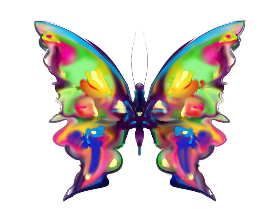 Butterfly Girl Hd Wallpaper Rainbow Butterfly Painting By Maureen Kealy
