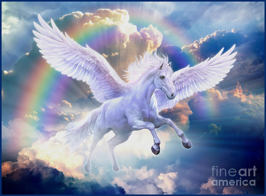 Best 3d Live Wallpaper Android 2015 Rainbow Pegasus Digital Art By Jan Patrik Krasny