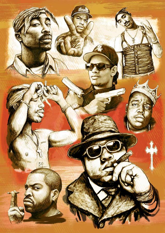 Nwa Iphone Wallpaper Rap Group Drawing Pop Art Sketch Poster Drawing By Kim Wang