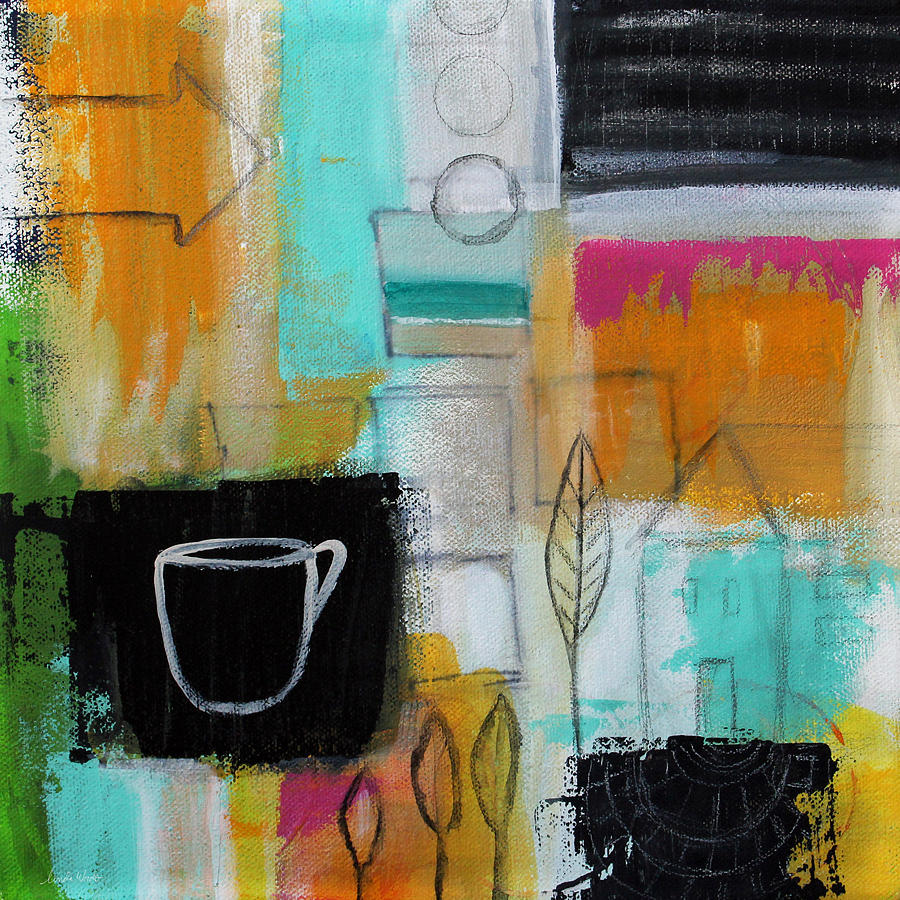Contemporary Abstract Painting Rituals Contemporary Abstract Painting By Linda Woods