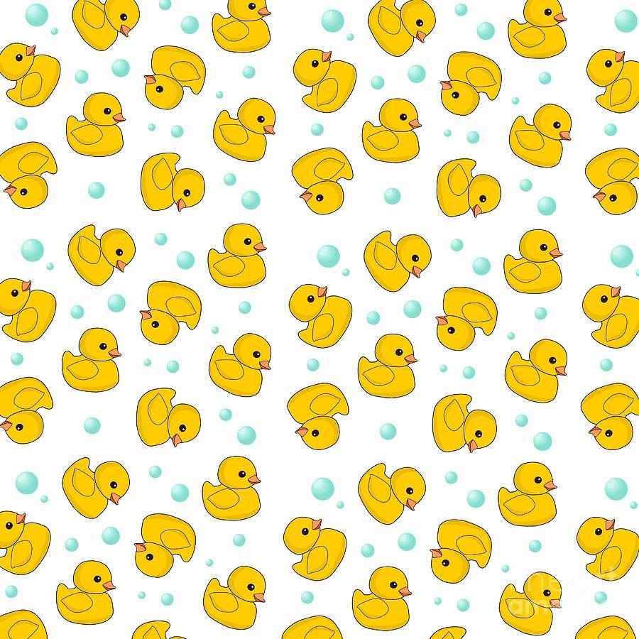 Cute Wallpaper Phone Case Rubber Duck Pattern Digital Art By Li Or