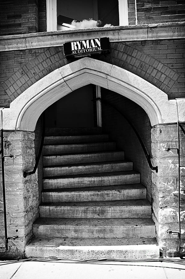 Ryman Auditorium Back Door Photograph by Danny Hooks