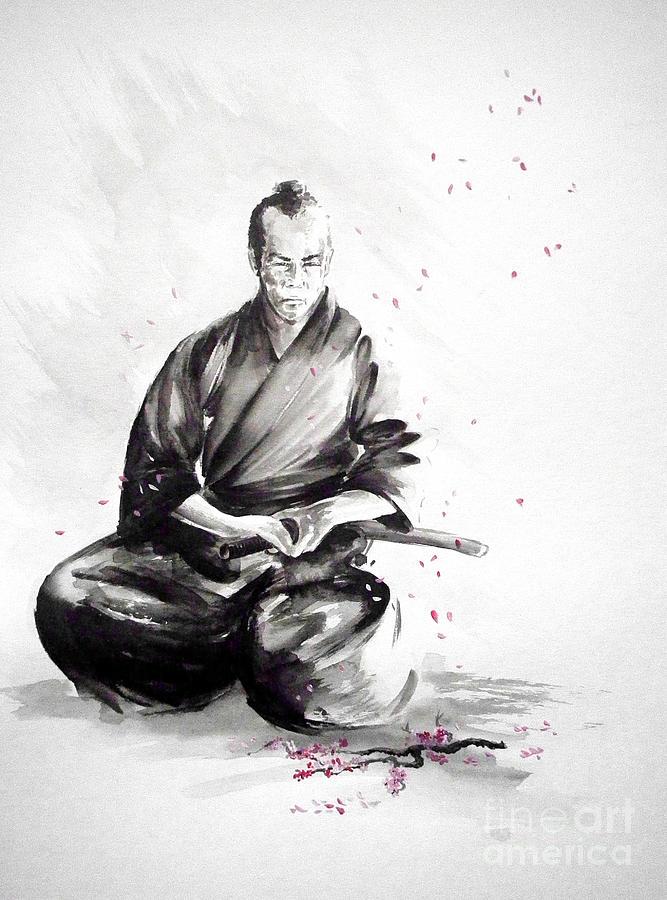 Monk Quotes Wallpaper Samurai Warrior Japanese Martial Arts Bushido Painting