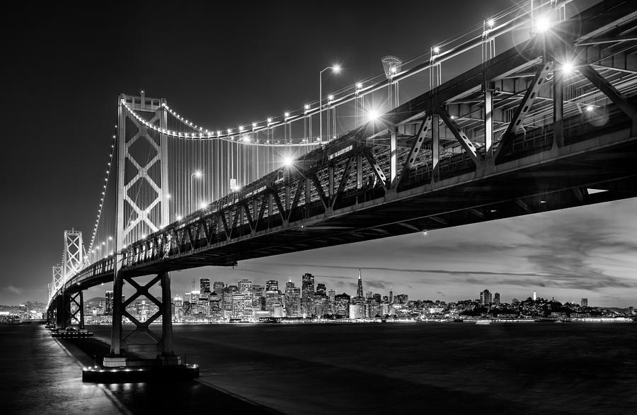 Brooklyn Bridge Wallpaper Black And White San Francisco Under The Bay Bridge Black And White