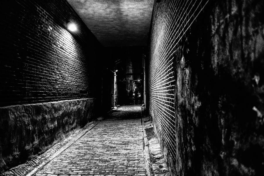 Lonely Girl Walking In Rain Wallpaper Scary Dark Alley Photograph By Louis Dallara