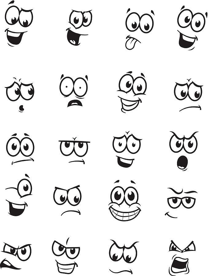 Set Of 20 Cartoon Faces by Kerfluffle