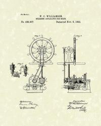 Ship Steering 1892 Patent Drawing by Prior Art Design
