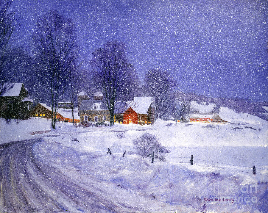 Iphone 5 Falling Snow Wallpaper Spencer Hollow Snowfall Painting By Candace Lovely