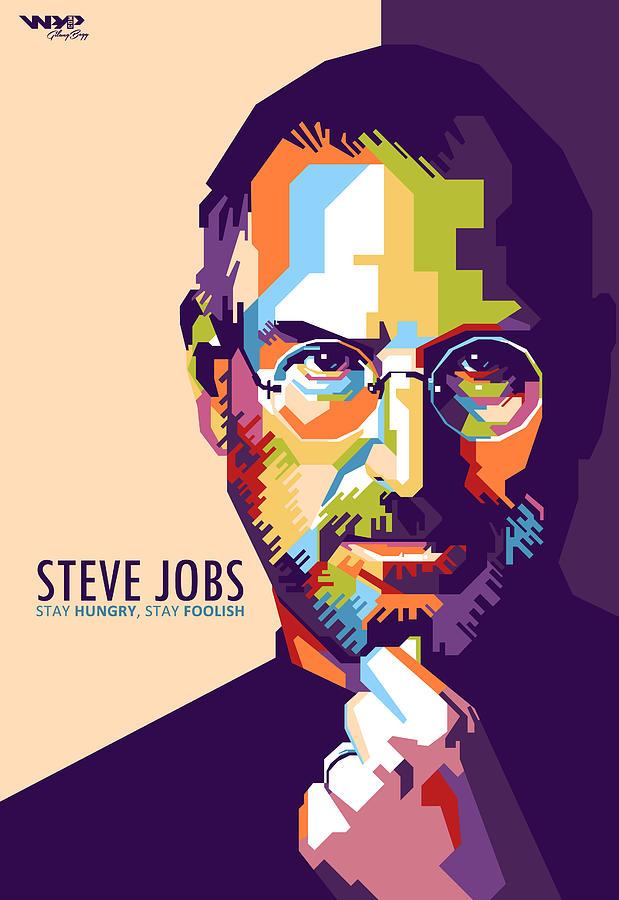 The Beatles Iphone 5 Wallpaper Steve Jobs In Wpap Digital Art By Gilang Bogy