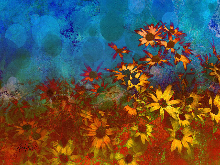 Iphone 6 Orange Flower Wallpaper Summer Sizzle Abstract Flower Art Painting By Ann Powell