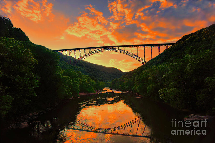 Fall Scenery Iphone Wallpaper Sunset New River Gorge Photograph By Dan Friend