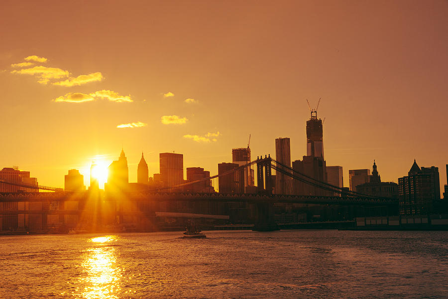 Nyc Iphone Wallpaper Sunset New York City Photograph By Vivienne Gucwa