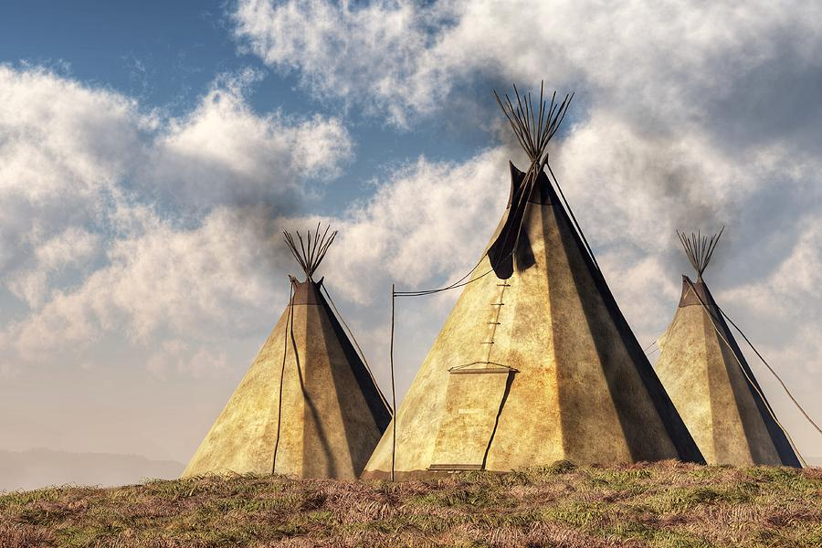 Native American Wallpaper Iphone Teepees Digital Art By Daniel Eskridge