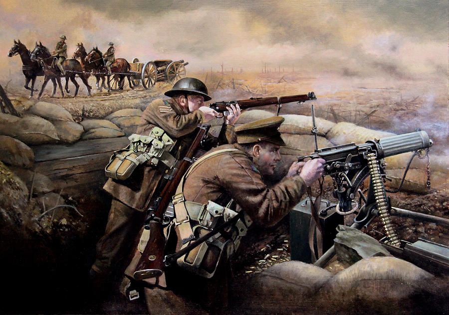 Shogun 2 Fall Of The Samurai Wallpaper The Battle Of Fromelles Painting By Chris Collingwood