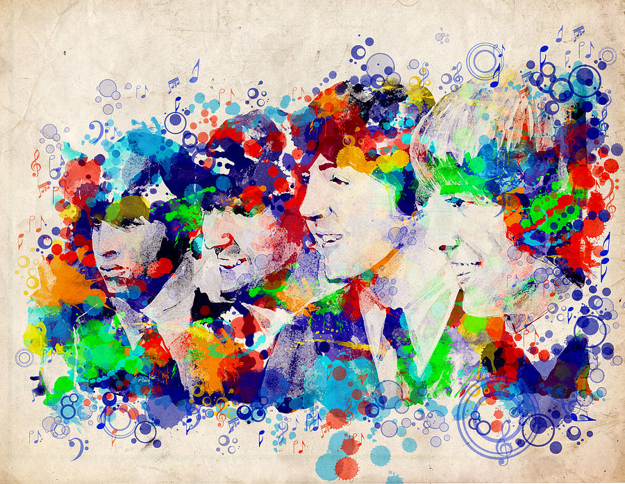 John Wall Iphone Wallpaper The Beatles 7 Painting By Bekim Art