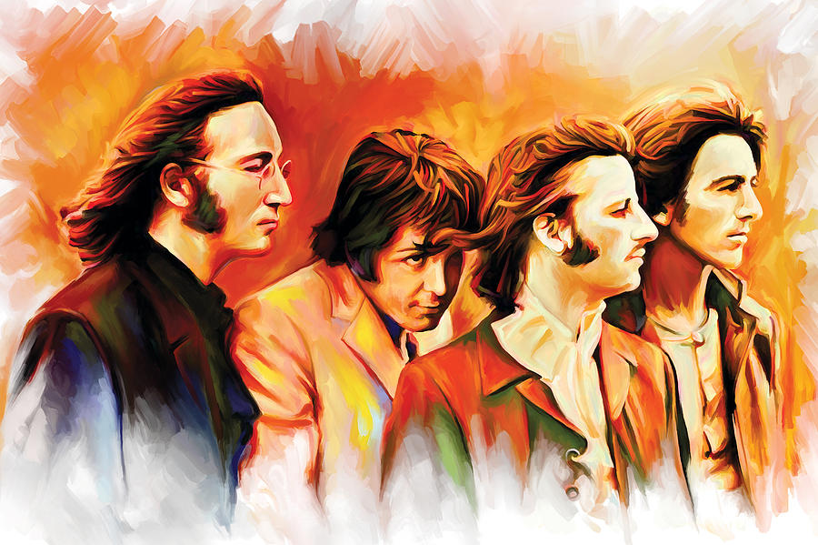 Chargers Iphone Wallpaper The Beatles Artwork Painting By Sheraz A