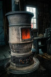 The Blacksmiths Furnace - Industrial Photograph by Gary Heller