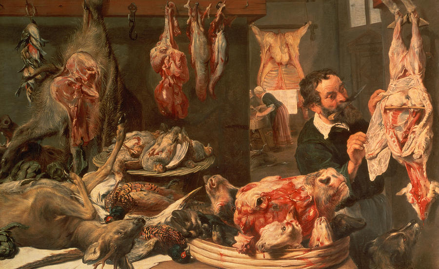 The Butcher39s Shop Painting By Frans Snyders