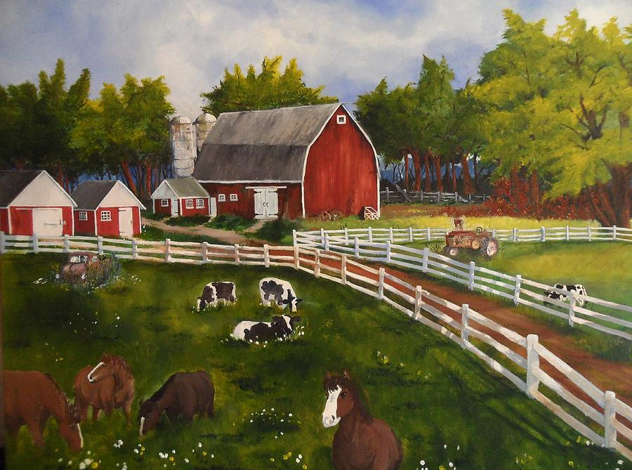 The Old Farm Painting By Tim Loughner