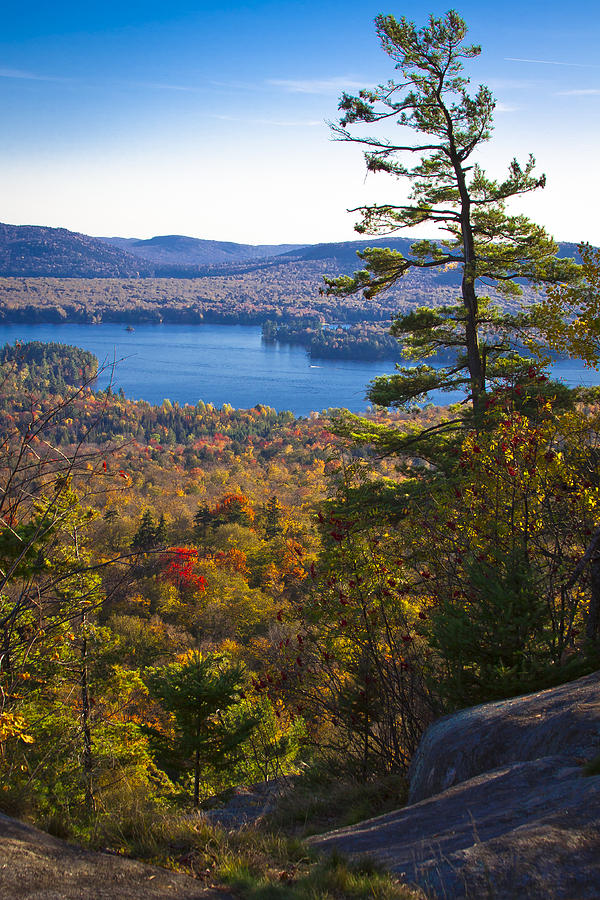 The View From Bald Mountain - Old Forge New York Photograph by