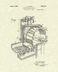 Tobacco Machine 1932 Patent Art Drawing by Prior Art Design