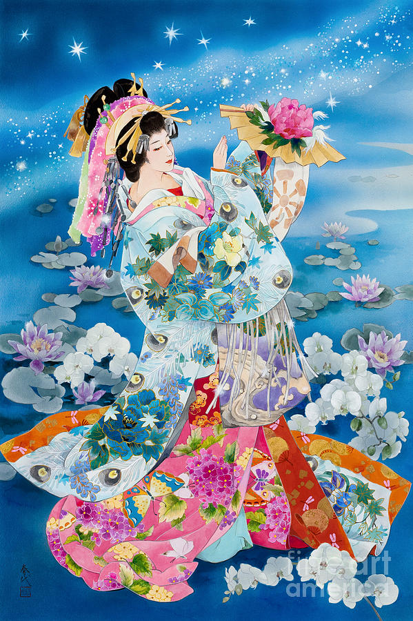 Japanese Samurai Girl Wallpaper Tsuki Hoshi Variant Ii Digital Art By Haruyo Morita