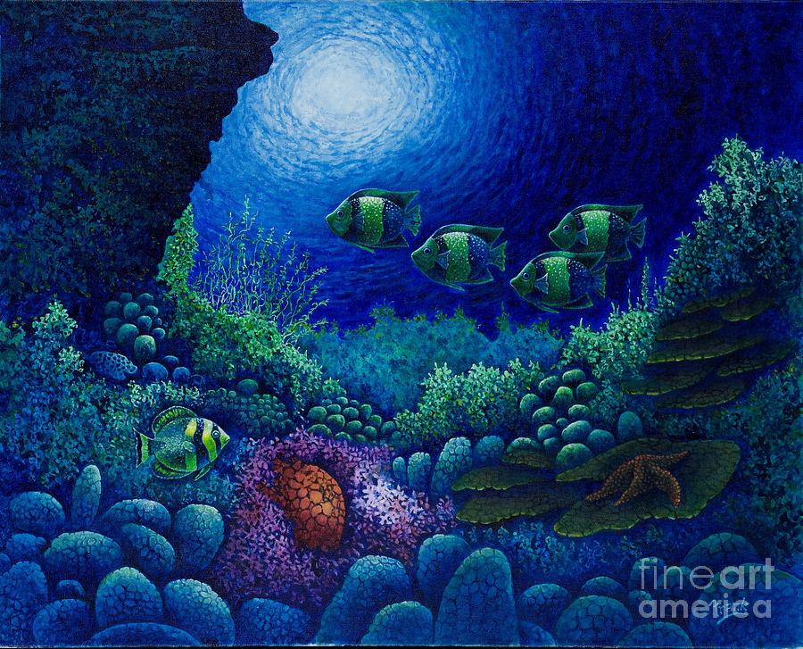 Frank Ocean Wallpaper Iphone X Undersea Creatures Iv Painting By Michael Frank