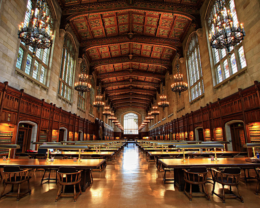 University Of Michigan Law Library Photograph by Matt Russell