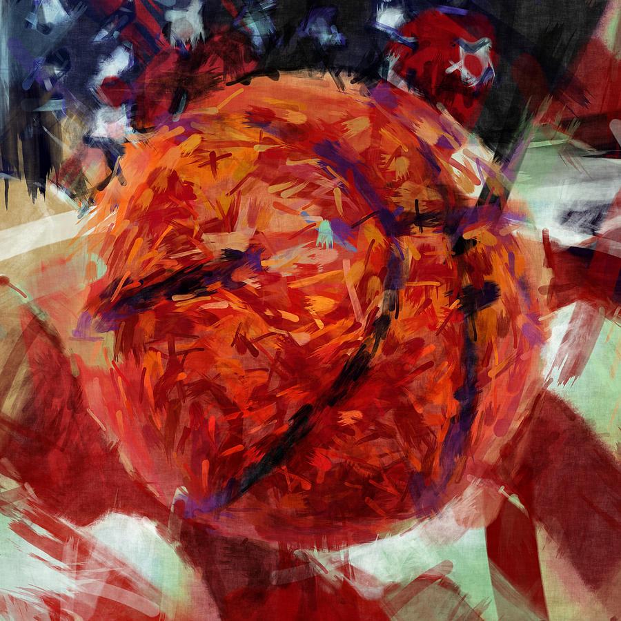 American Flag Iphone Wallpaper Usa Flag And Basketball Abstract Digital Art By David G Paul