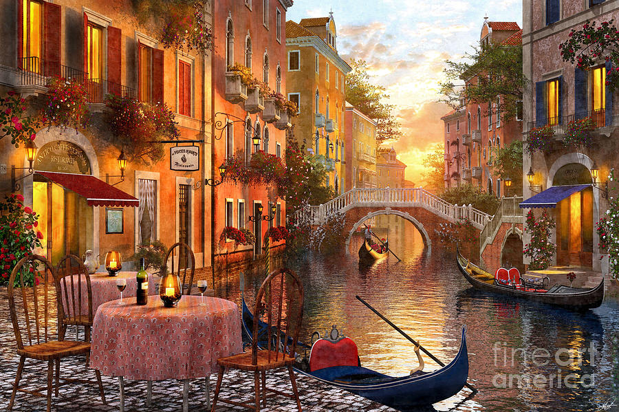 Canvas Hi Beautiful 3d Wallpaper Venetian Sunset Digital Art By Dominic Davison