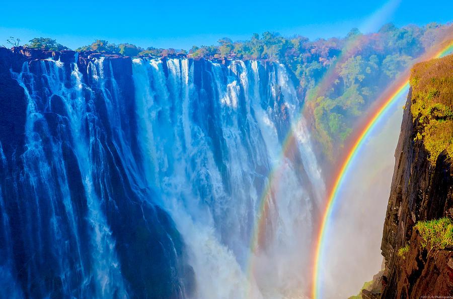 Iguazu Falls Iphone Wallpaper Victoria Falls Double Rainbow Photograph By Jeff At Jsj