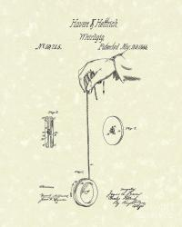 Whirligig 1867 Patent Art Drawing by Prior Art Design