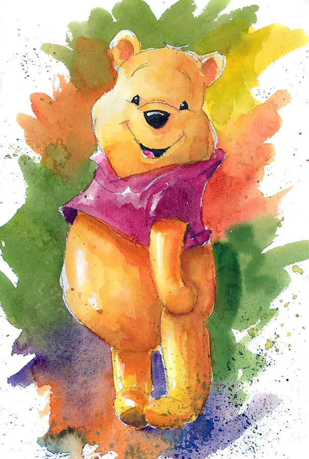 Pooh Bear Iphone Wallpaper Winnie The Pooh Painting By Andrew Fling