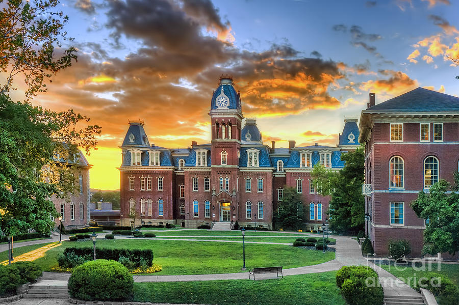 Fall Wallpaper For Android Woodburn Hall Evening Sunset Photograph By Dan Friend