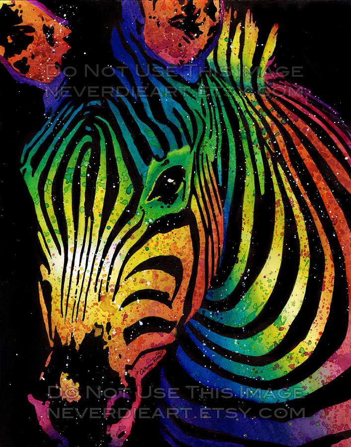 Animal Print Iphone 5 Wallpaper Zebra Painting By Carissa Rose Stevens