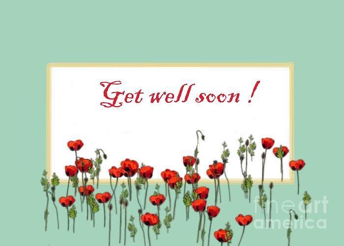 Get Well Soon Card Digital Art by Dessie Durham - get well soon card