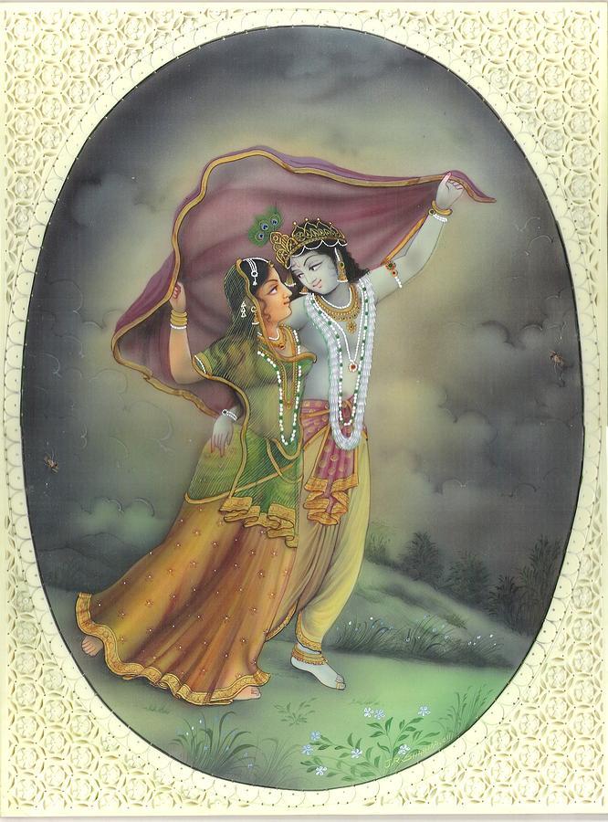 Girl Tshirts Hd Wallpaper Radha Krishna Painting By Jitendra R Sharma