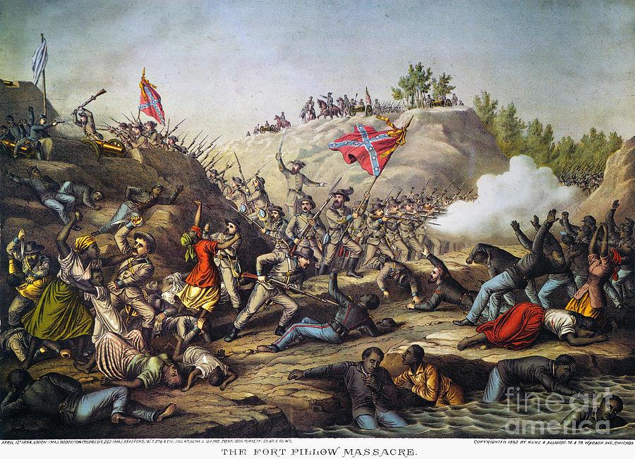 Fort Pillow Massacre, 1864 Photograph by Granger