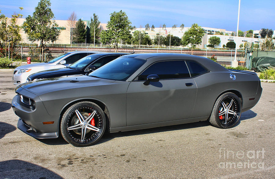 2012 Dodge Challenger Str Grey Photograph by Tommy Anderson