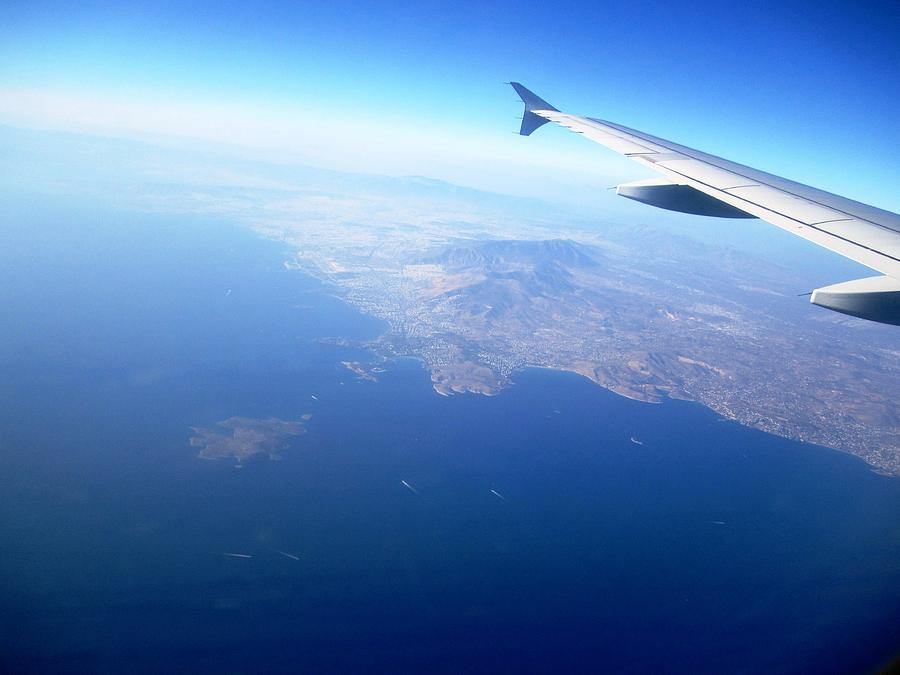 John Wall Iphone Wallpaper Airplane Wing Aerial View Mediterranean Sea South Of