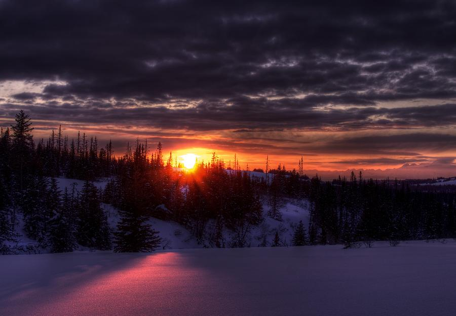 Glitter Iphone Wallpaper Alaskan Winter Sunset Photograph By Michele Cornelius
