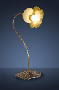 Antique Flower Lamp Photograph by Noah Katz