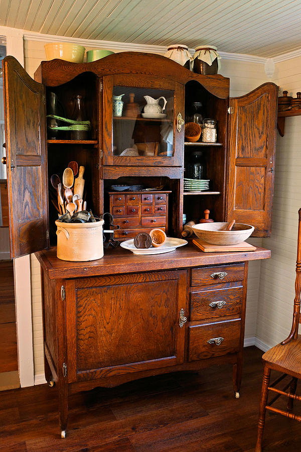 Meuble Tv Industry Antique Hoosier Cabinet Photograph By Carmen Del Valle