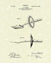 Cake Turner Design 1900 Patent Art Drawing by Prior Art Design