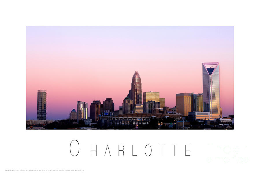 North Carolina Wallpaper Iphone Charlotte Nc Skyline Pink Sky Photograph By Patrick Schneider