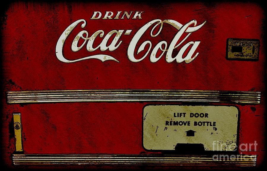 Coca Cola Vending Machine Drawing By Anne Kitzman