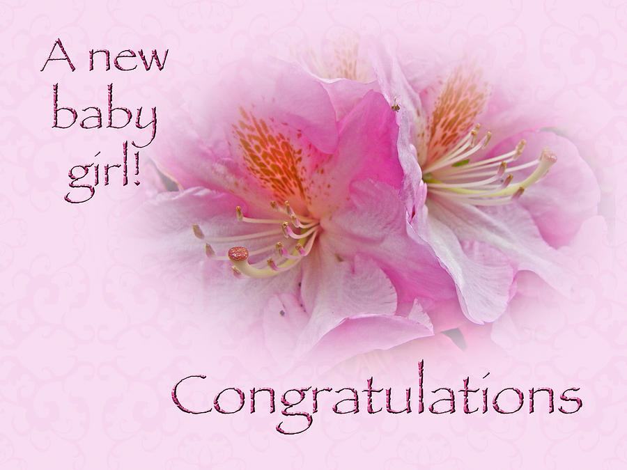 Congratulations New Baby Girl - Azaleas Photograph by Mother Nature