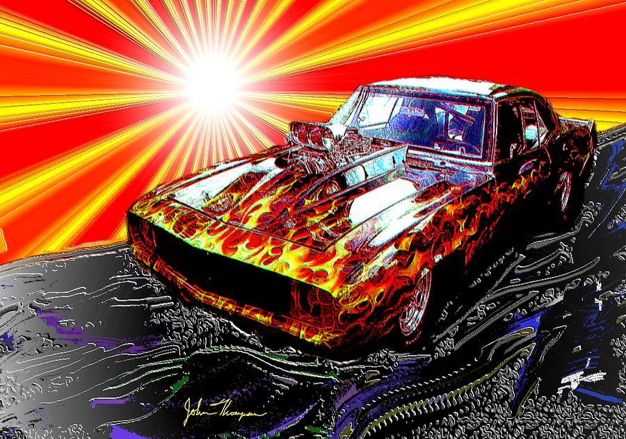 John Wall Iphone Wallpaper Cool Camaro Digital Art By John Thompson