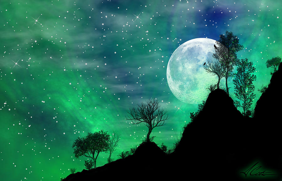 Mountain Wallpaper Iphone 6 Dreamy Night Digital Art By Anthony Citro