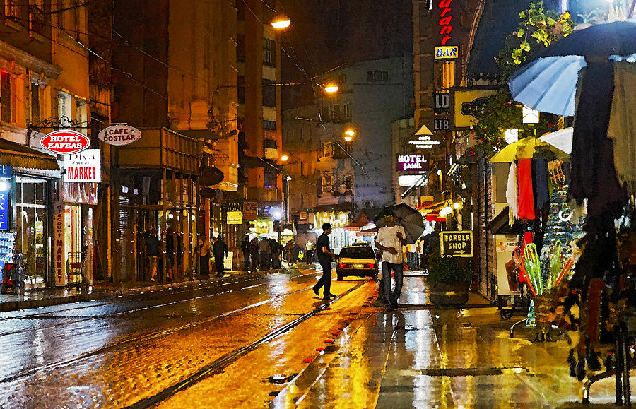 Rainy Fall Day Wallpaper European City Rainy Night Photograph By Kantilal Patel